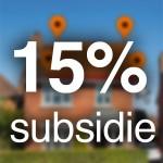 15% subsidie zonnepanelen 2013